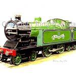 022 Ex. Blakesley Hall Railway Bassett-Lowke  4-4-2 IC Locomotive Blacolvesley