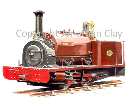 109 Hampshire NGRS ex.Dinorwic Quarries 0-4-0ST Cloister