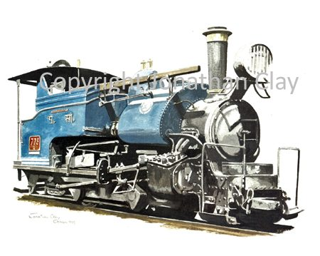 119 DHR Class B 0-4-0ST No.779 (Blue)
