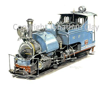 120 DHR Class B 0-4-0ST No.799 (Blue)