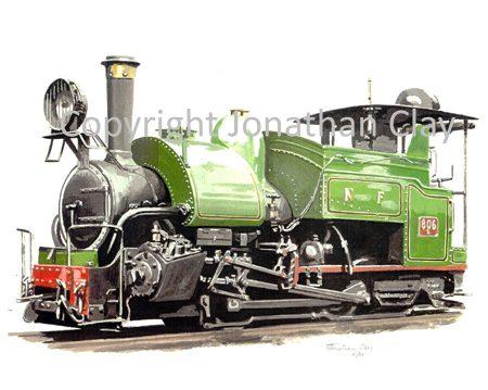 158 DHR Class B 0-4-0ST No. 806 (Green)