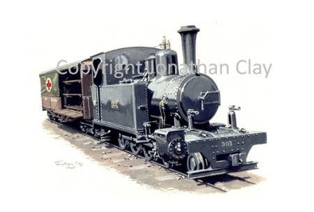 187B WD Hunslet 4-6-0T No.303 with Ambulance Car