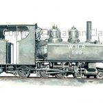 211 Baldwin 4-6-0T No. 590 (black)