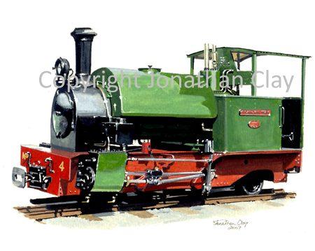 261 Statfold Barn Railway 0-4-2ST Trangkil No.4