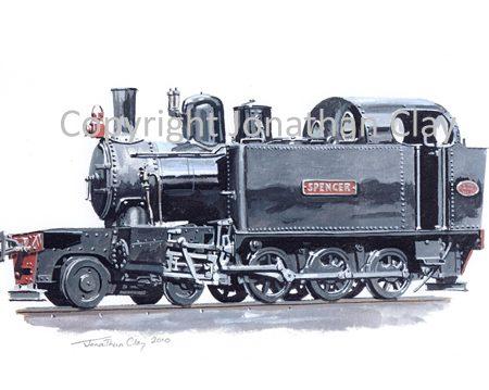 301 Ex WD Hunslet 4-6-0T 'Spencer'