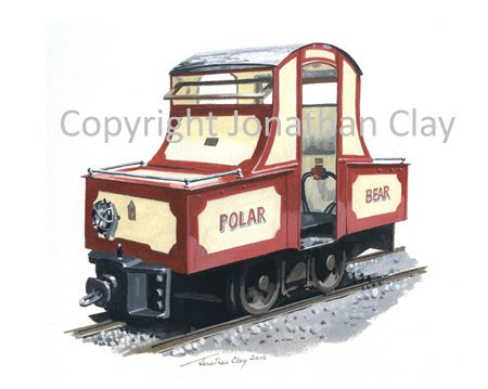 306 Groudle Glen BEV Loco Polar Bear