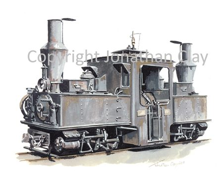 315 WWI French Army Pechot Bourdon 0-4-4-0T Locomotive