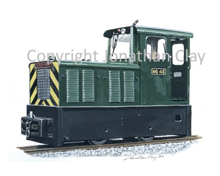 330 Leighton Buzzard Railway Baguley-Drewry  Diesel Locomotive No.NG46