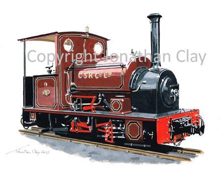 378 Statfold Barn Railway Hudswell Clarke 0-4-0ST CSR No.19