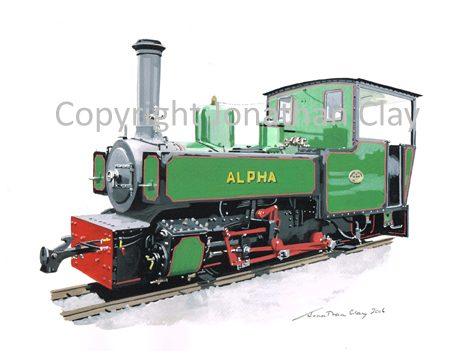 407 Hudswell Clarke P Class 0-6-0T 'Alpha'