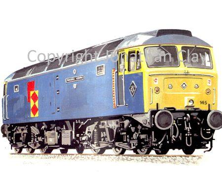 517 Class 47 Diesel No.  47145 Merddin Emrys