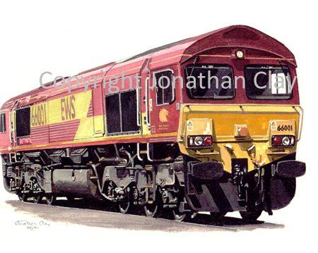 523 Class 66 Diesel No.  66001 (EWS)