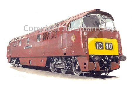 574 Class 52 Diesel No. D1010  Western  Campaigner