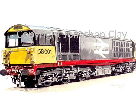 582 Class 58 BR Diesel No.  58001