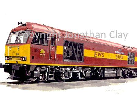 584 Class 60 Diesel No. 60001 (EWS)