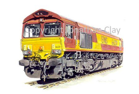 592 Class 66 Diesel No. 66231 (EWS)