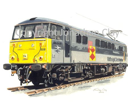 600 Class 86 Electric No. 86608 (Railfreightg) ref.600
