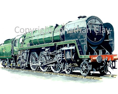 605 BR Standard 4-6-2 No.70013 Oliver Cromwell