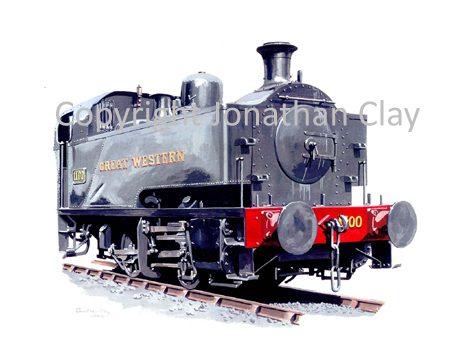 663 GWR Avonside 1100 Class Dock Shunter No. 1100 (GWR Black)