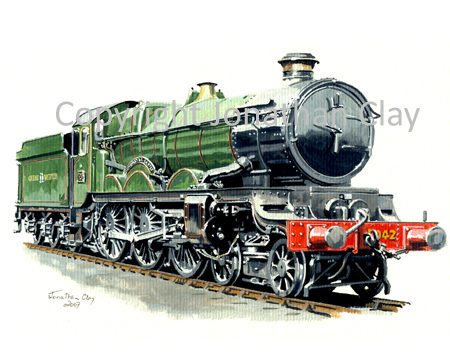 689 GWR Castle 4-6-0 No.5042  Winchester Castle (GWR livery)