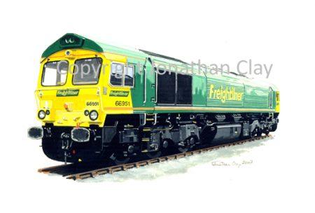 705 Class 66 Diesel No.  66 951 (Freightliner)