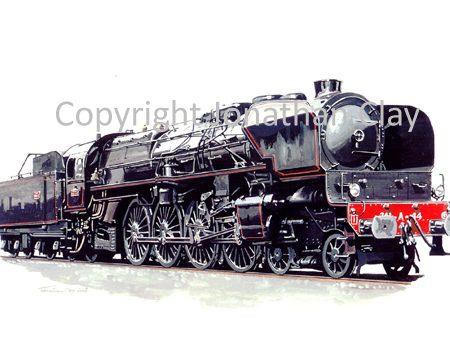 715 SNCF Ex Est Class 241A 4-8-2 No.241A44