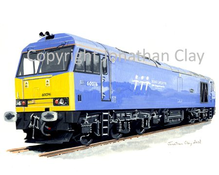724 Class 60 Diesel No. 60074 Teenage Spirit