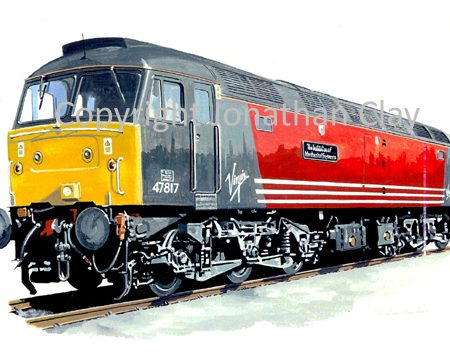 735 Class 47 Diesel No.  47817 Virgin Trains