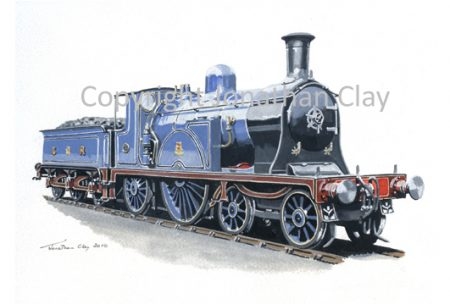 817 Caledonian Railway Single 4-2-2 No.123