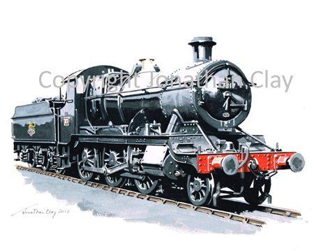 864 GWR 73xx 2-6-0 No.7317 (BR Black)