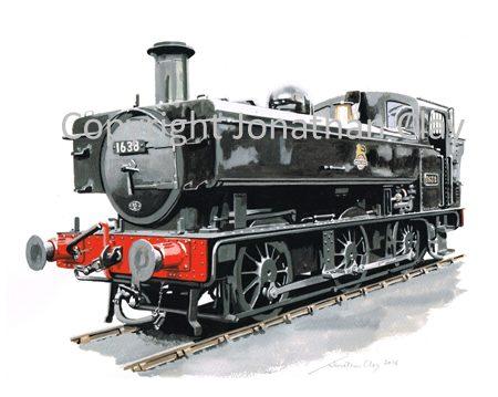 892 GWR 16XX 0-6-0PT No.1638 (BR Black)