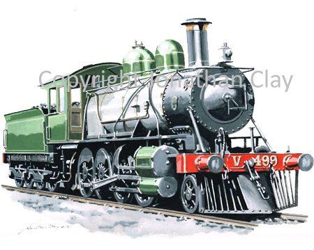 916 Victorian Railways (Aus) Vauclain Compound 2-8-0 No.V499