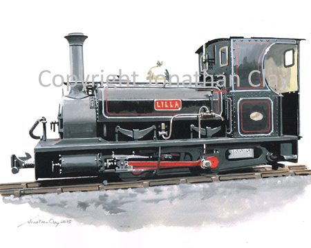 155B Penrhyn Quarries 0-4-0ST Lilla (Side View)