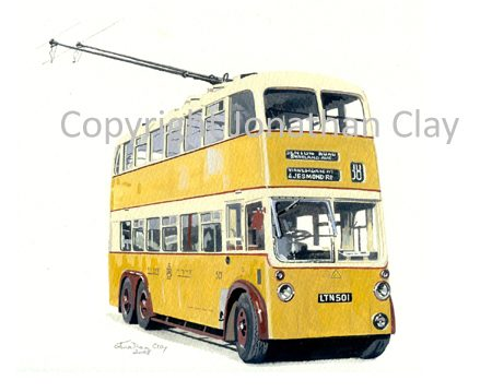 1855 Newcastle Trolleybus 501