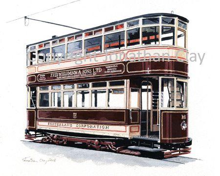 1858 Sunderland Tramcar No.16