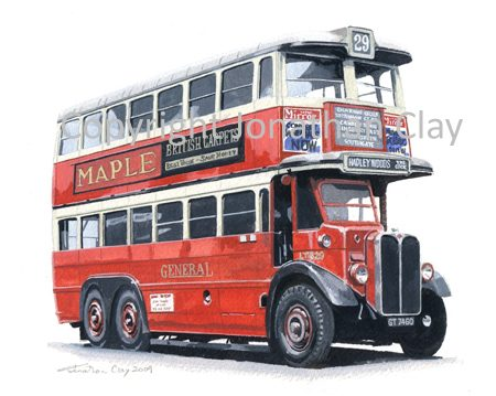 1866 London General AEC LT820 Double Decker