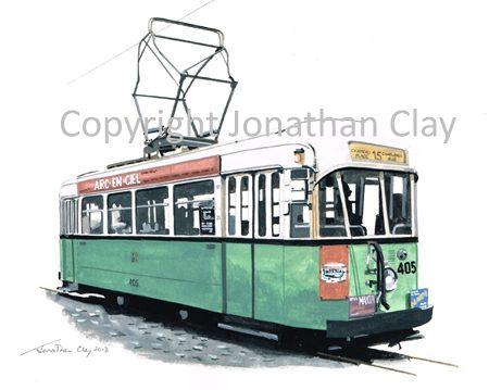 1889 Charleroi Tram