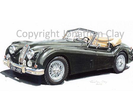 CAR010 Jaguar XK140