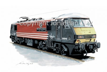 950 Class 90 Electric Locomotive Virgin No. 90 016 'The International Brigade)