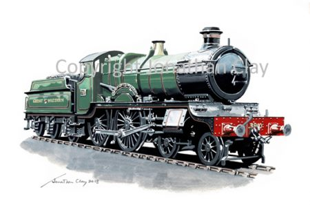 957 GWR County Class 4-4-0 No.3840 County of Montgomery