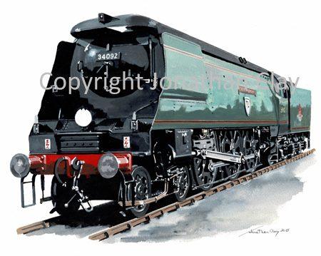 969 Bulleid WC Class 4-6-2 No. 34092 'City of Wells'