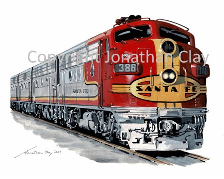 975 Santa Fe F Series Diesel Locomotive