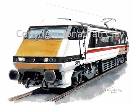 986 Class 91 Electric No. 91119 Bounds Green Intercity Depot