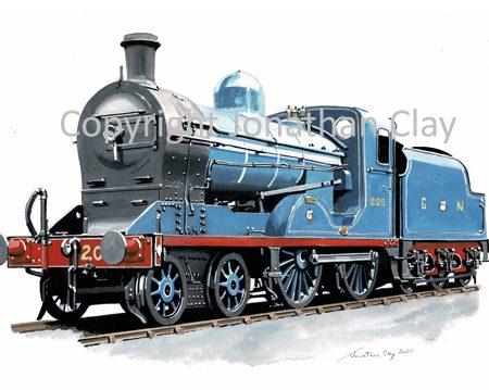998 GNR (I) Class U 4-4-0 N0.205 'Down'