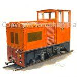 054 Hudson-Hunslet 4W diesel locomotive N0.4 Rusty