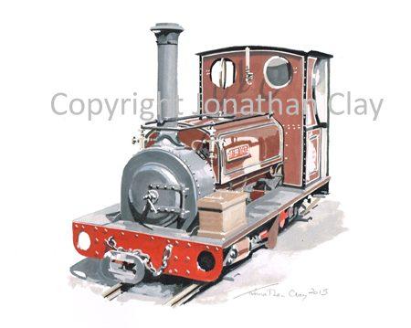 117 West Lancashire light Railway ex. Dinorwic Quarries  0-4-0ST Irish Mail