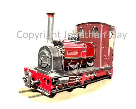 166 Bredgar and Wormshill Railway ex. Dinorwic Quarries 0-4-0ST Lady Joan