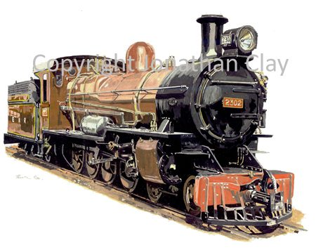 226 East African Railways 4-8-0 No.2302
