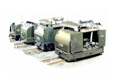 243 'Four Turtles' 40hp Simplex locomotives