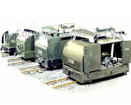 243 'Four Turtles' 40hp Simplex locomotives